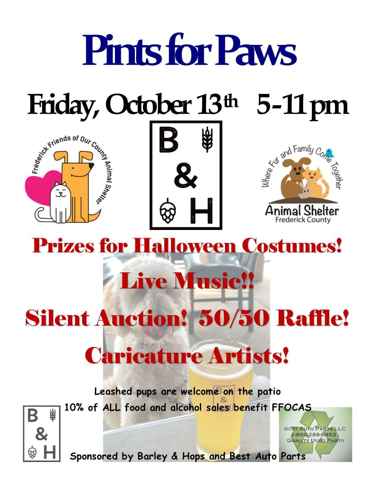 Pints for Paws Event